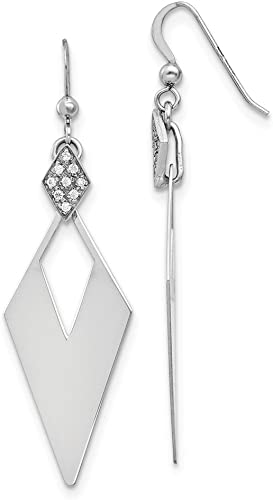 Sterling Silver Crystal Pearl Drop Earrings Gift Boxed