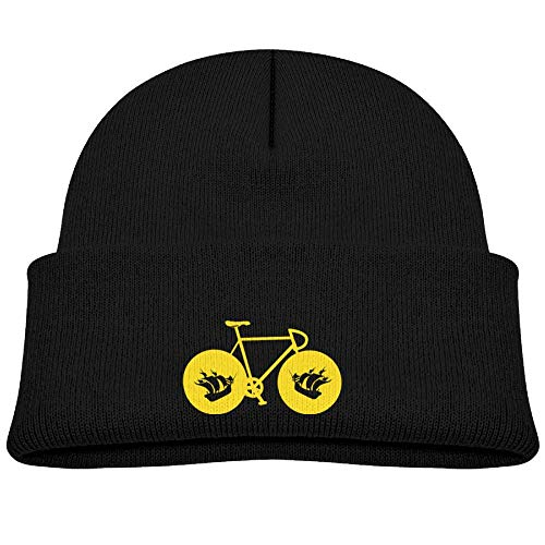 Beanie Cap Yellow Bicycle with Boston Fleece Knit Hat Baby Girls