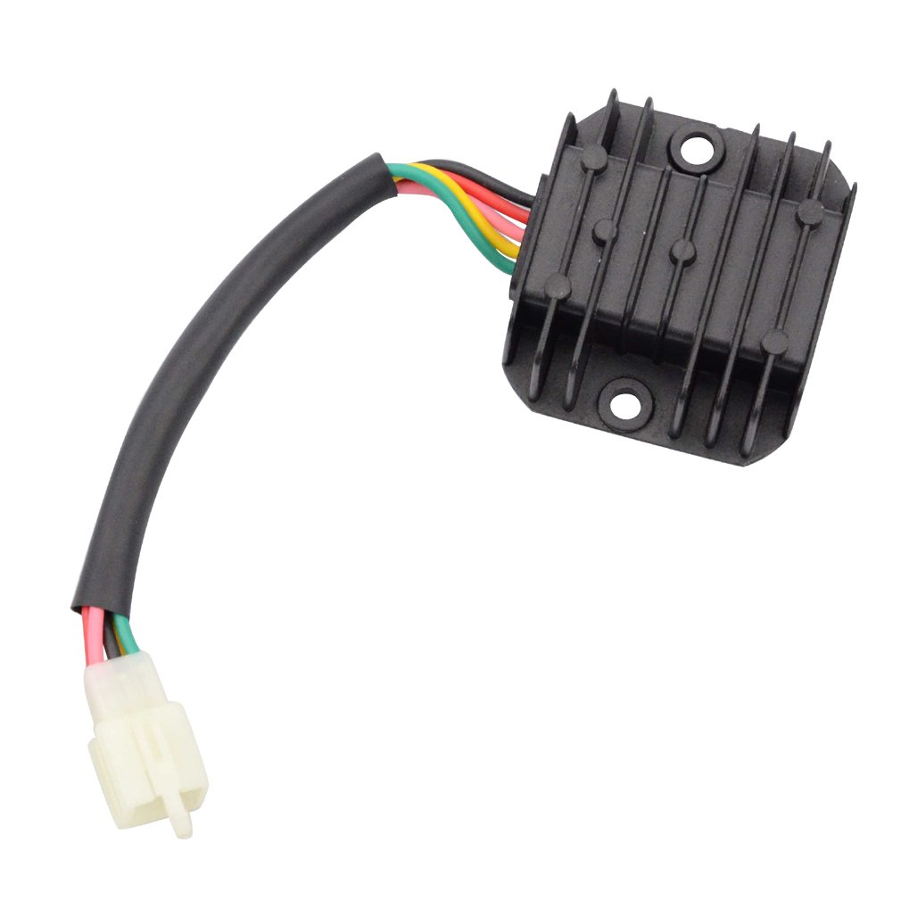 Goofit 5 Pin Voltage Regulator Rectifier For Gy6 125cc 4 Wiring Diagram 150cc Atv Dirt Bike Go Kart Moped Scooter Automotive