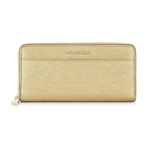 0e20602b3b6b1 Michael Kors Gold Metallic Money Pieces Boxed Zip Around Wallet by MICHAEL  Michael Kors