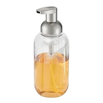 interdesign duo foaming soap dispenser pump for kitchen or bathroom countertops