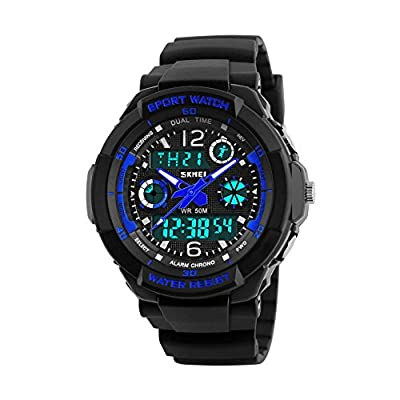 Kids Digital Watch,50M Waterproof Sports Outdoor LED Wristwatch with Alarm Boys Watches, Children Gift by JELERCY