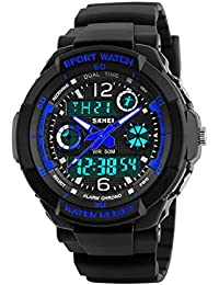 Kids Digital Watch,50M Waterproof Sports Outdoor LED...