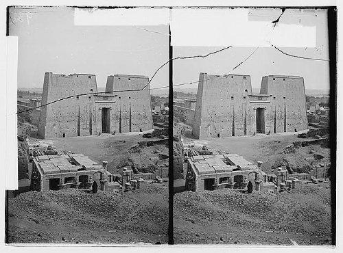 Photo: Egyptian views; Temple of Horus,Edfu. General view of Temple of Horus