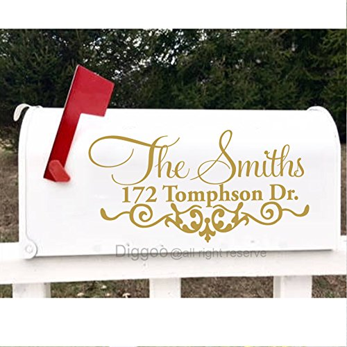 Family Mailbox (Personalized Mailbox Address Decal Family Door Sticker Home Decor Housewarming Gifts (7