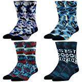 Novelty Gift Socks, Ristake The Fourth Colorful Fashion...