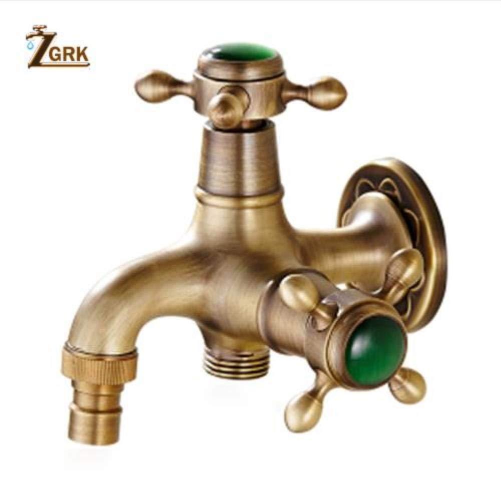 ZGRK Vintage Antique Brass redary Single Level Single Hole Kitchen Sink Mixer Tap Bathroom Sink Mixer Taps bathroom furniture fitting A-200