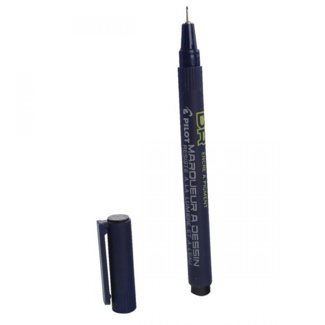 Pilot DR Drawing Pen Black Pigment Ink Pack of 5 Case 0.1, 0.2, 0.3, 0.5, 0.8