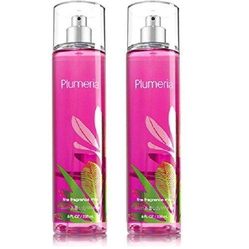 (Bath and Body Works (2) Plumeria Fine Fragrance Mists-8 oz. Bottles)