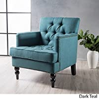 Malone Club Arm Chair Christopher Knight Home Dark Teal