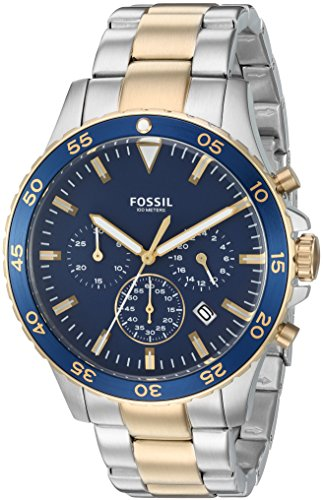 Fossil-Mens-CH3076-Crewmaster-Sport-Chronograph-Two-Tone-Stainless-Steel-Watch