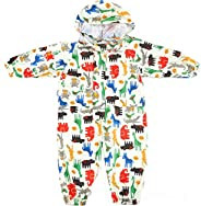 Toddler Rain Suit Baby Rain Suit with Hood Waterproof Coverall One Piece Rain Suit Kids Muddy Buddy (1-7 Years