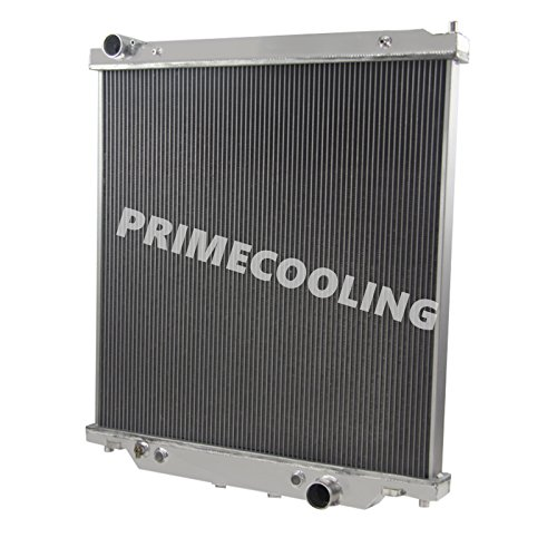Primecooling 2 Row Core All Aluminum Radiator for Ford F250 /F350 Super Duty ,Excursion ,2003-07 (6.0L Turbo V8 Diesel Engine, AT /MT) (Two Row Radiator compare prices)