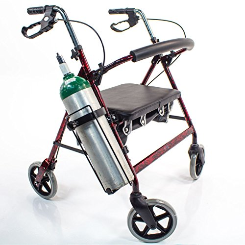 (OXYGEN TANK HOLDER JO2W for Walker Rollator Walking Aid Tube mount O2H carrier)