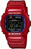 G-Shock Tough Solar Red Plastic Resin Case and Bracelet Black Tone Digital Dial Tide Graph Moon Data