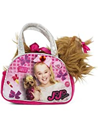 Girls Nickelodeon JoJo Siwa Pink Handbag with Removable Plush Yorkie Dog Doll