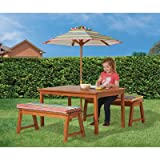 Kid's Outdoor Play Table and Bench Dining Set