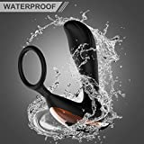 Male Prostate Massager G Spot Vibrating/Vibrator with 7 Variable Vibration with Wireless Remote Rechargeable Anal Adult Sex Toys Cock Penis Ring Waterproof for Men Women and Couples for Hands Free F