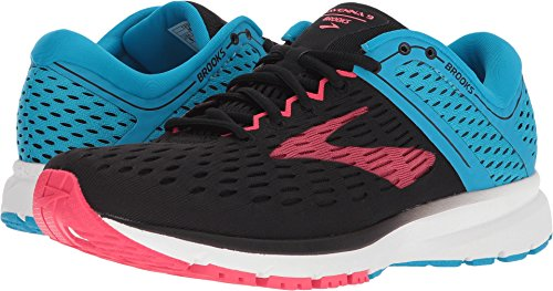 Brooks Women's Ravenna 9 Black/Blue/Pink 6.5 B US