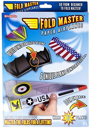 Kangaroo's Paper Airplane Kit; 72 Paper Airplanes - Kid Paper Airplanes