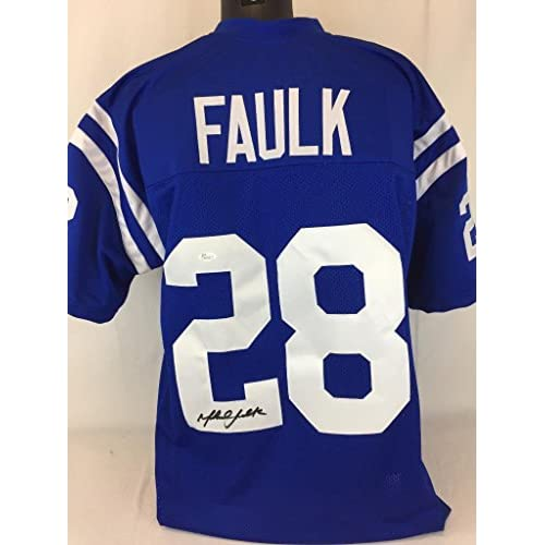 promo code ddc4d 9d895 Marshall Faulk Signed Jersey Jsa Coa Baltimore Colts ...