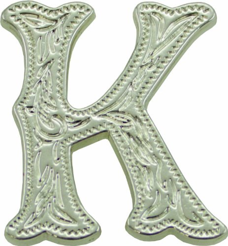 UPC 799475120237, Springfield Leather Company's Alphabet Letter Concho, K (Shiny Nickle/Silver)