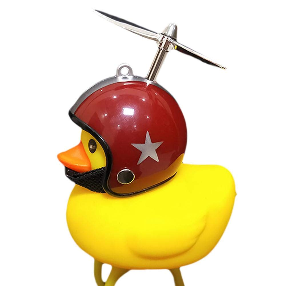 DIY L/ámpara De Estilo De Dibujos Animados Para Pato Peque/ño Y Peque/ño De Color Amarillo Luz De Bocina De Bicicleta 2 En 1 Cochecito 12 L/úmenes, 45 Decibeles Carro Descompresi/ón De Oficina