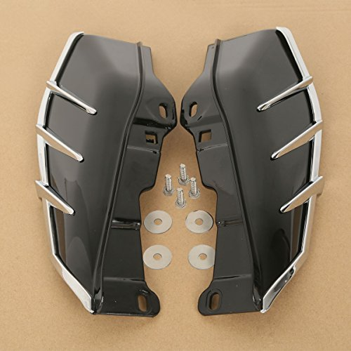 Price comparison product image XFMT Black Mid Frame Air Deflector Trims For Harley Touring Road King Tri Glide 09-17