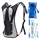 sisimua Hydration Camel Backpack Cleaning Kit Free Ebook – 2L Bladder (Black)
