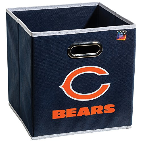 Franklin Sports NFL Chicago Bears Fabric Storage Cubes - Made To Fit Storage Bin Organizers - Bear Cubby