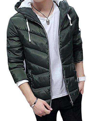 1 Hooded Zipper Men's Coat Jacket Padded Generic a4qzvxwYn