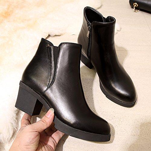 FLYRCX Martin Stiefel mit Stiefel dicke und warme Damen im Herbst und Winter
