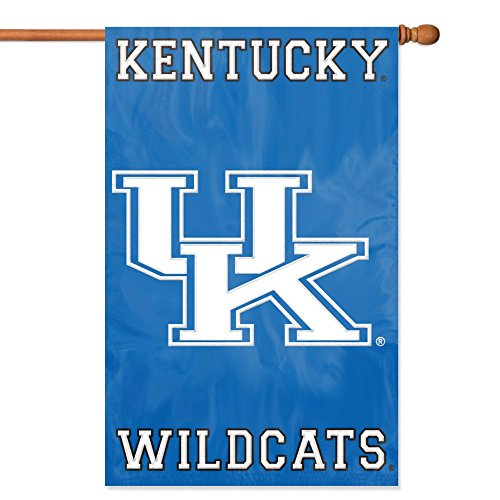 [Party Animal Kentucky Wildcats Banner College Flag] (Applique College Flag Banner)