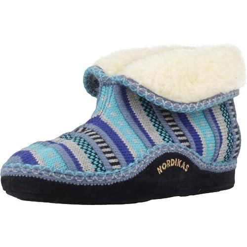 Zapatillas de Estar por casa de Mujer, Color Azul, Marca NORDIKAS, Modelo Zapatillas De Estar por Casa De Mujer NORDIKAS 3600 Azul: Amazon.es: Zapatos y ...