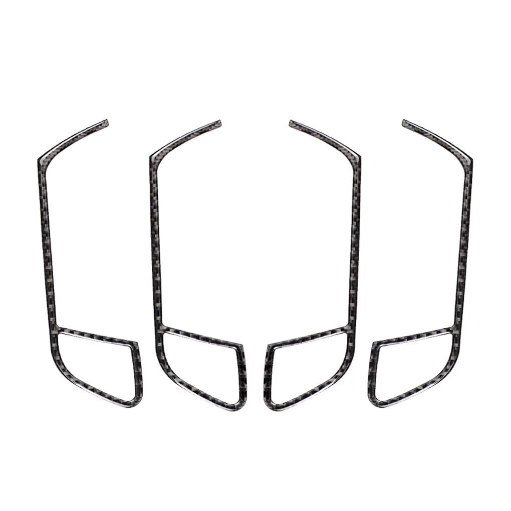Lorjoy Coche de la Puerta Interior de la manija del Panel de la Cubierta de Pegatina de reemplazo para A4 B8 2009-2016 A5 del Interior