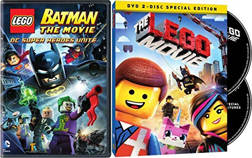 Black LEGO Destructor Batman DC Super Heroes Unite DVD + The Lego Special Edition Movie Double Feature 2 Pack (Lego Wreck It Ralph)