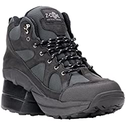 Z-CoiL Pain Relief Footwear Men's Outback Hiker Enclosed CoiL Black Boots