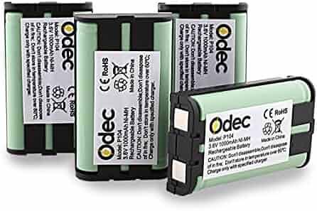 06b4687827eb9c Odec Panasonic Cordless Phone Battery 3.6V 1000mAh for HHR-P104 HHR-P104A KX