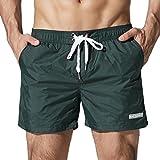 Funycell Men's Swim Trunks Beach Shorts with Pockets Jasper L