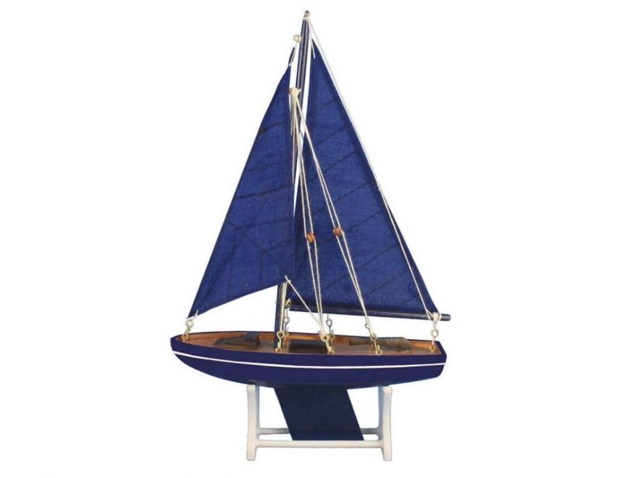 Hampton Nautical 12'' Floating Wooden It Floats Ocean Breeze Model Sailboat