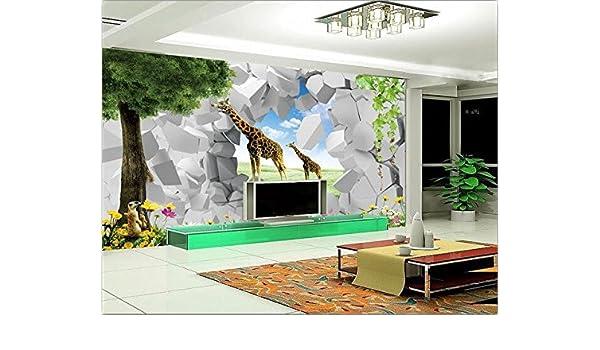 Malilove 3D Wallpaper Mural Personalizado Sala 3D 3D De Papel ...