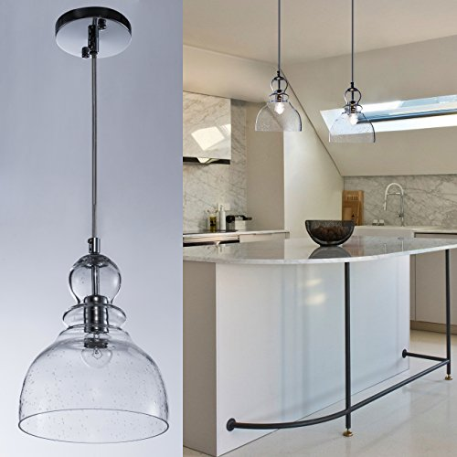 Clear Glass Island Pendant Lights - 8