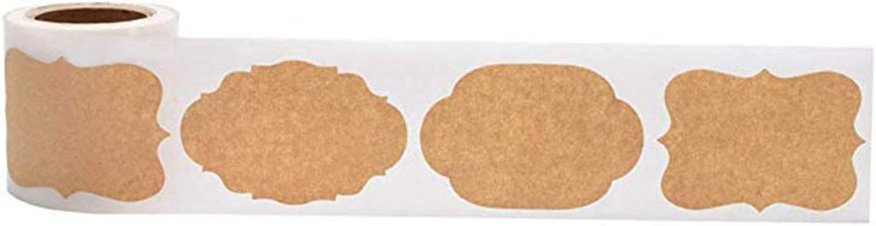 300pcs Jar Glass Bottle Adhesive Labels Blank Kraft Sealing Sticker DIY For Gift