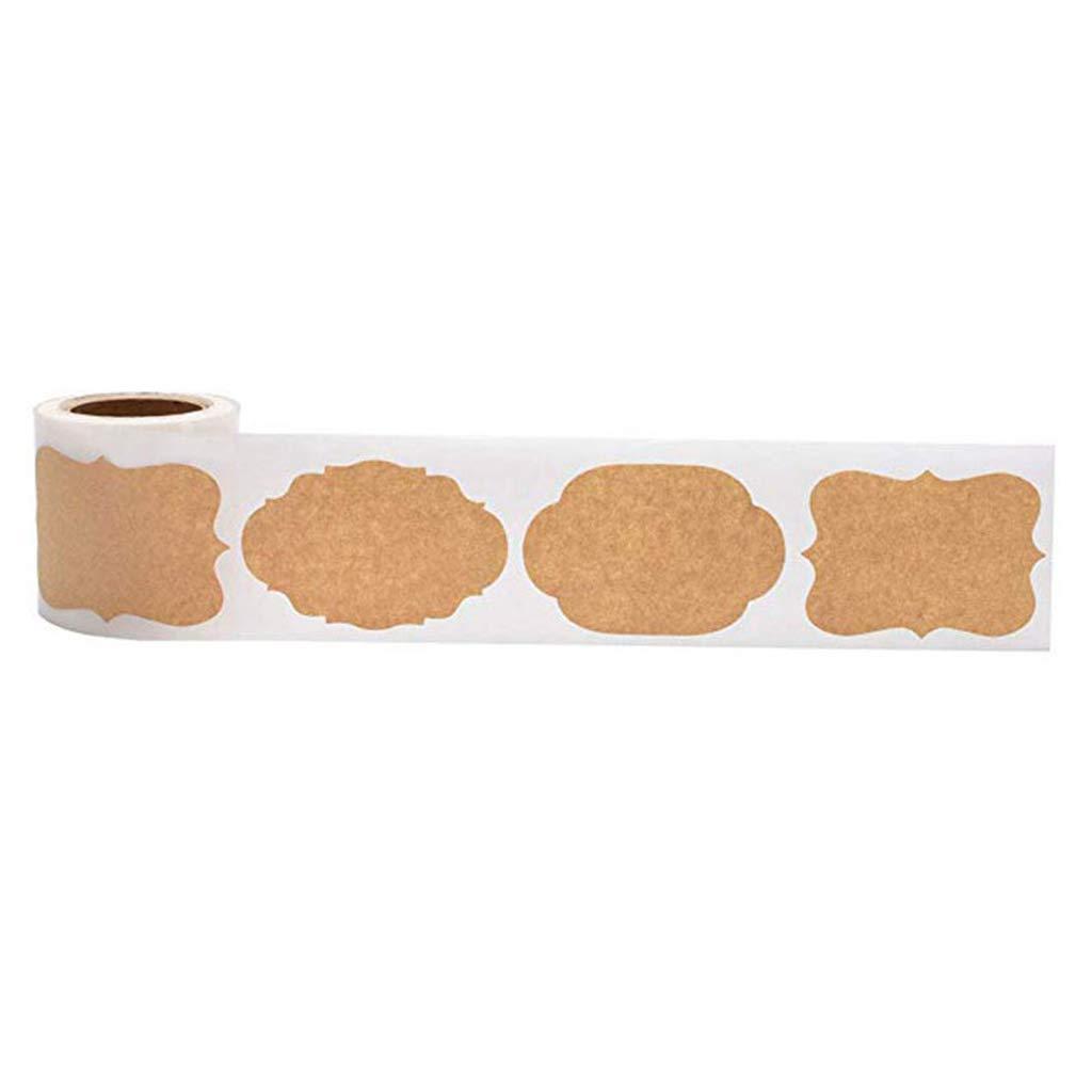 zkm 300 pz Mason Jar Etichette adesive per Bottiglie di Vetro in Bianco Naturale Kraft Adesivo per sigilli per Torte da Forno Imballaggio Regalo di Natale Etichetta Fai da Te