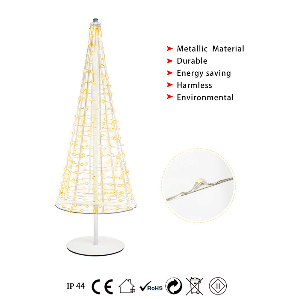 3.3FT Metal Tree Foldable,Home,Festival,Party,Wedding ,Indoor and Outdoor Use,Warm White(HONESTY)