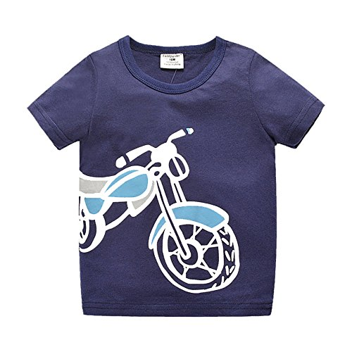 Uudora Boy Kids Summer Motorola Casual Short Sleeve Tops T-shirt 1-6Y
