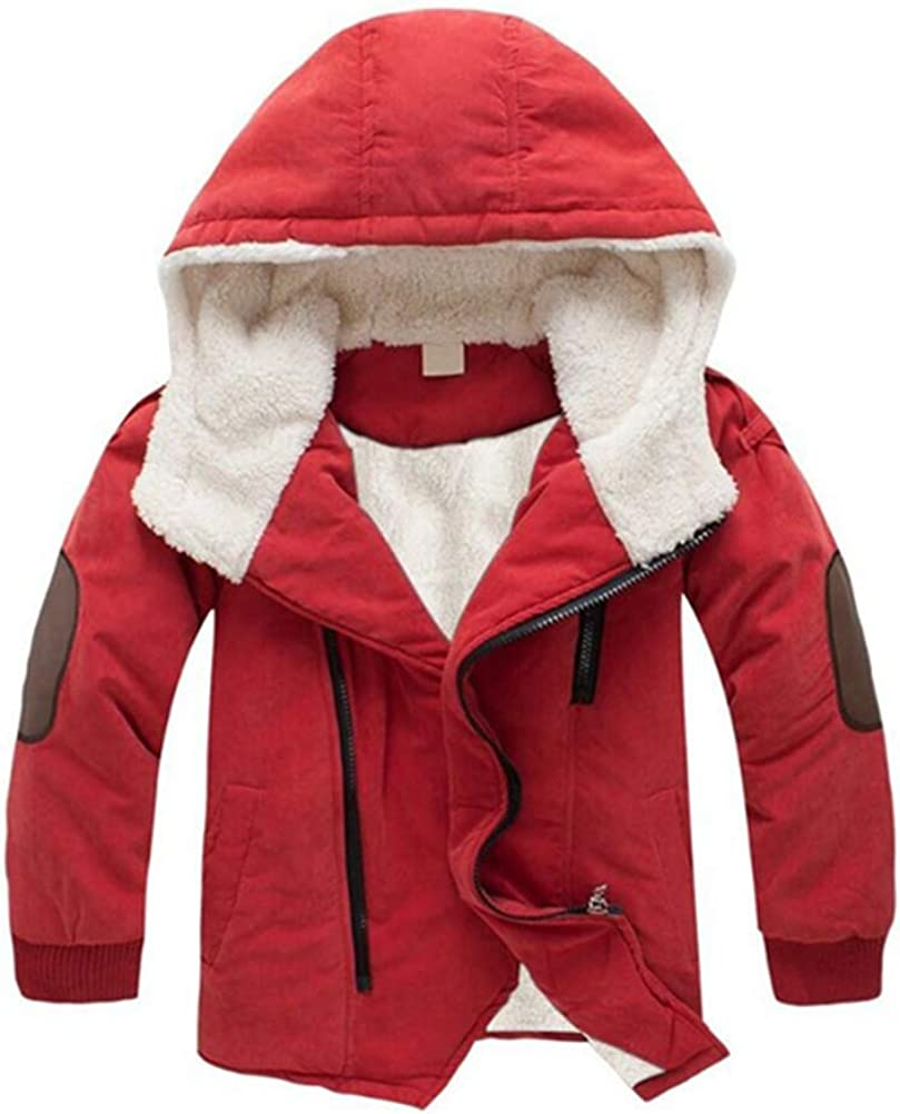 Zip-up Light Windproof Sweatshirt Jacket Warm Hooded Fleece Outerwear for Boys Girls Goldweather Toddler Baby Winter Coats