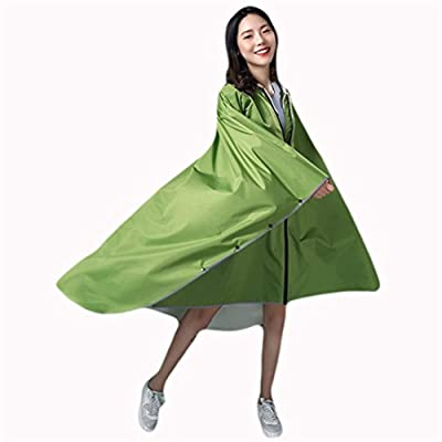 Abrigo Impermeable Moda Mujer Outdoor Trekking Impermeable Largo Individual Poncho Eléctrico Mujeres Casuales Transparente Doble Ala Impermeable Totalmente Reflectante ( Color : A, Size : One Size ): Ropa y accesorios