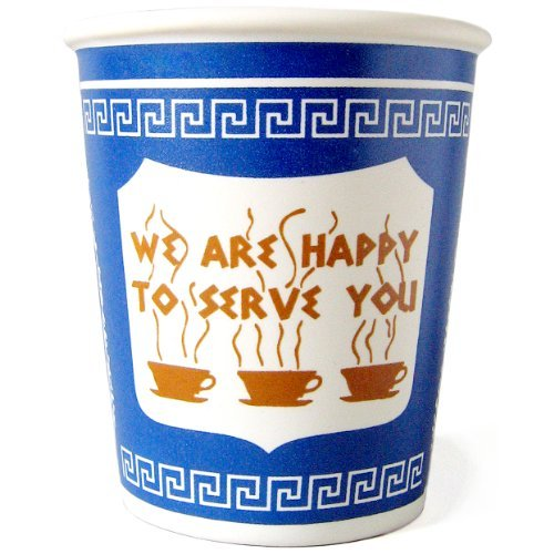The Original New York City NY Greek Ceramic Coffee Cup 10-Ounce: