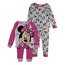 Disney Junior Minnie Mouse 4 Piece Pajama Set (Toddler)